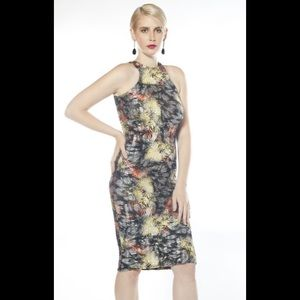 Madeline K Couture Body Con Multi-Colored Dress